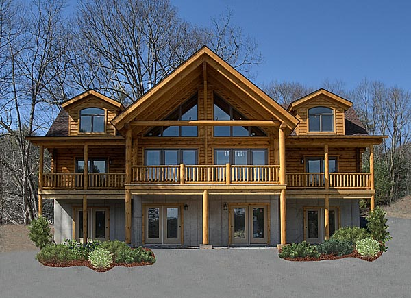 Valley Log Homes Ulster County From Victorian Builders