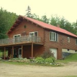 Waterfront Log Cabin For Sale Maine Island Falls