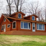 Waterfront Log Home For Sale Lake George Northern Michigan