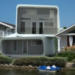 White Modular House Design Like Cubes Los Angeles California