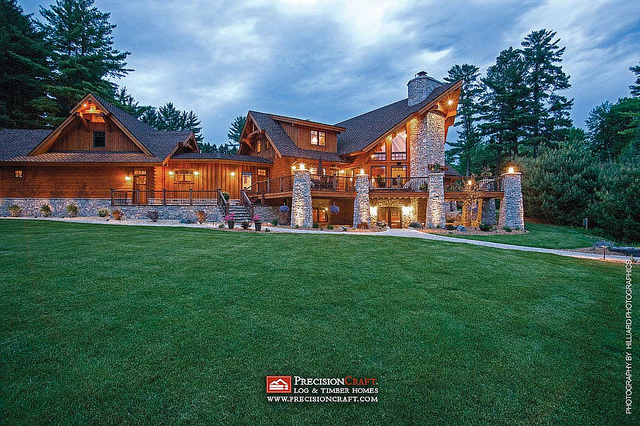 Wisconsin Log Timber Home Exterior Flickr Sharing