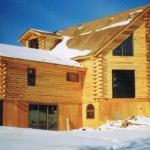 Wood Log Home Hand Hewn Built Patriot Builders