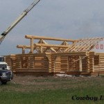 Yellowstone Handcrafted Log Home Plan Under Construction Cowboy