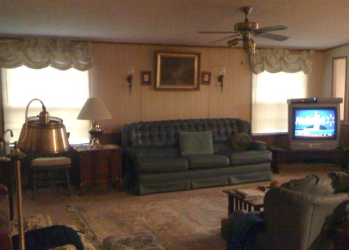 Back Large Living Room Double Wide Mobile Home For Sale