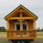 Exterior Featuring Log Siding And Metal Roof Porches