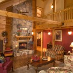 Fireplace Beautiful Log Home The Neighborhood
