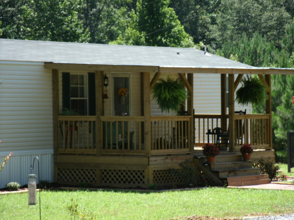 Front Porch Added Mobile Home