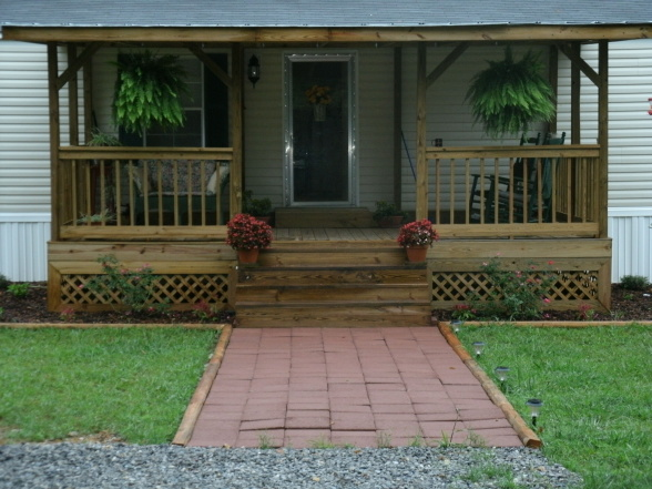 Front Porch Added Mobile Home View Porches
