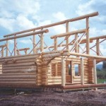 Hlb Log Home Contruction Stacking Building