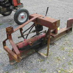 Homemade Log Splitter Stamp