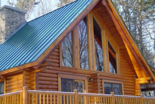How Stain And Finish Log Home