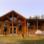 Log Home Staining Foreman
