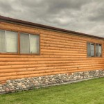 Log Siding Installed Manufactured Home