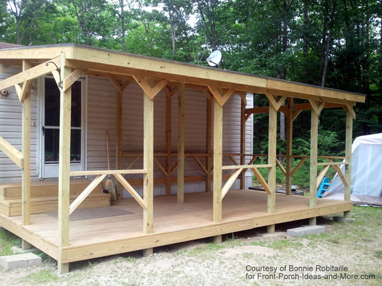Mobile Home Porch Her Was Designed And Built Kyle Kilgore