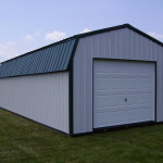 Prefab Metal Garages Lofted Garage Detached