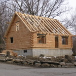 This Real Log Home Model Currently Under Construction Worcester