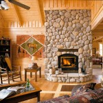 Your New Log Home And Enjoy The Times Spent Around Fireplace