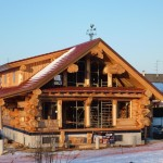 Handcrafted Cedar Log Home France