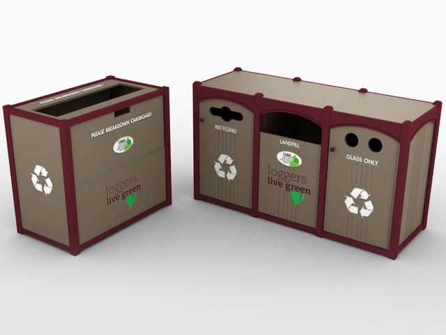 Attractive Recycling Bins