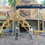 Confederation Log Home Being Constructed