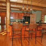 Contemporary Log Home Kitchen Love Having The Large Island That