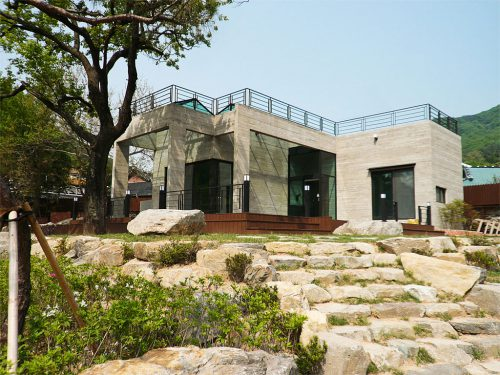 Contemporary Modular Homes Stones Staircase Outdoor Design Awants