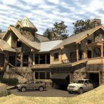 Custom Luxury Log Home Plans For Country Style Perfect
