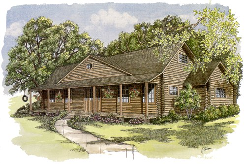 Dakota Log Home Floor Planfirst Second