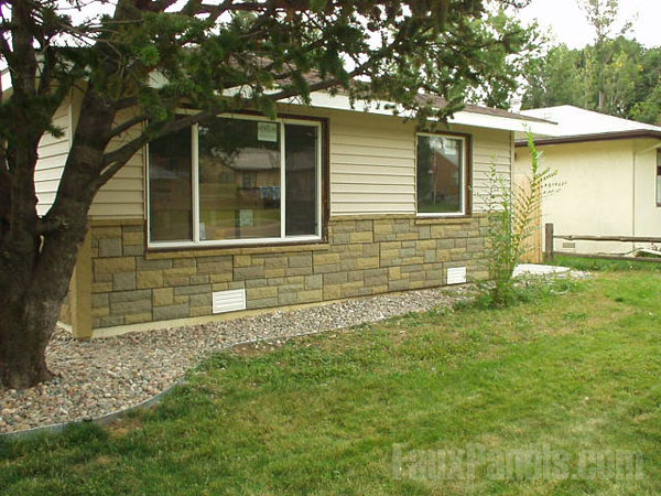 Fake Stone Mobile Home Skirting Can Used Regular Homes Well