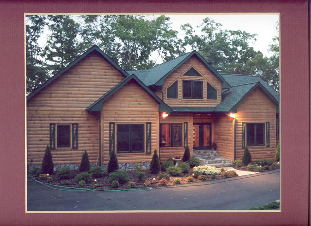 Fine Log Homes Sales Office Home