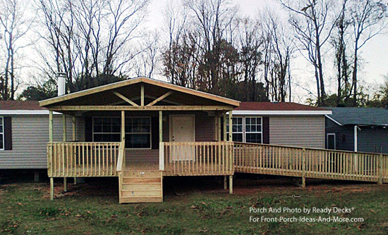 Finished Gable Roof Mobile Home Porch Design