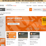 Home Depot Credit Sign Picture