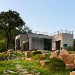 Homes Design Awesome Modern Prefabricated Landscape Area Green