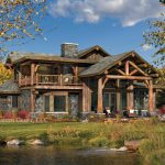Huntington Post And Beam Log Home Floor Plan