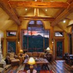 Hybrid Log Home Interior