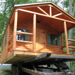 Log Cabins Are Also Available Finished Homes Bathroom