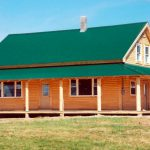 Log Siding Combined Natural Round Porch Posts And Rafters