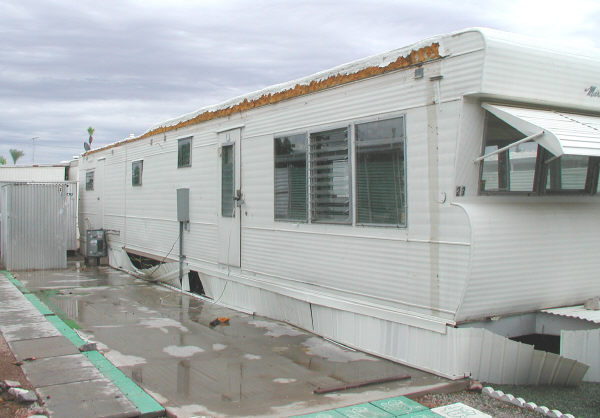 Mobile Home Anchored Solid