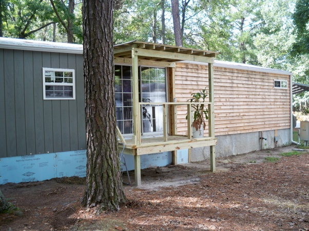 Mobile Home Exterior Remodel Install Siding And Underpinning Small