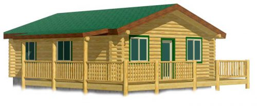 Modular Log Cabin Elevation