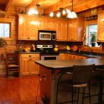 Our Log Home Was Done Very Low Budget Kitchens Design