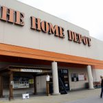 Person Walks Toward Home Depot Nashville Tenn
