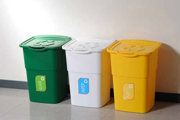 Recycling Bin Kit Outdoor Litre Trio Home