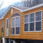 Round Log Siding Manufactured Home Exterior Rustic Mountain Homes