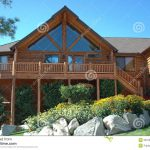 Royalty Free Stock Graphy Log Cabin Style Home