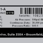 Serial Number Label Logo Model Address And Barcode