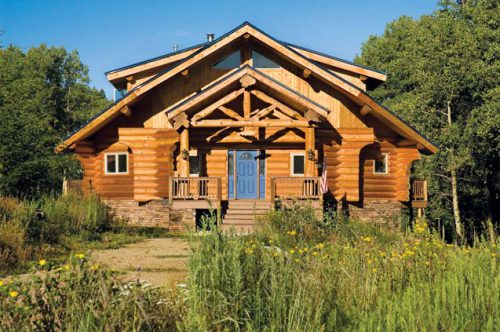 Small Log Homes Living