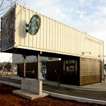 Starbucks Drive Thru And Walk Store Made From Shipping Containers