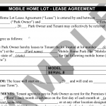 Terminology Tuesday Mobile Home Park Lot Lease Agreement
