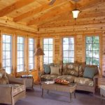 This Log Home Sun Porch Full Tall Casement Windows Let The